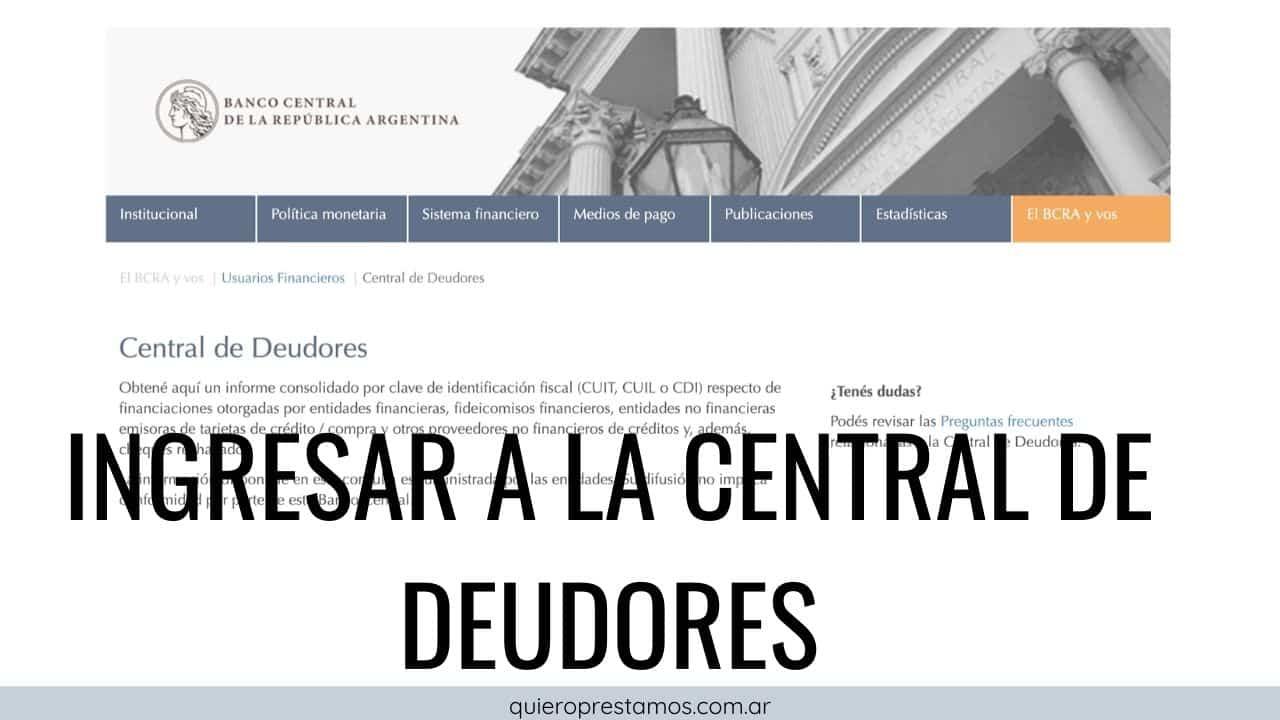 informe de central de deduores Banco Central